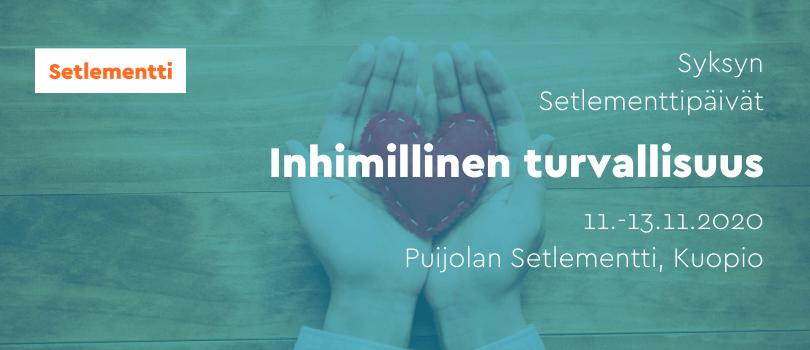 Syksyn 2020 Setlementtipäivät Kuopiossa 11.-13.11.2020