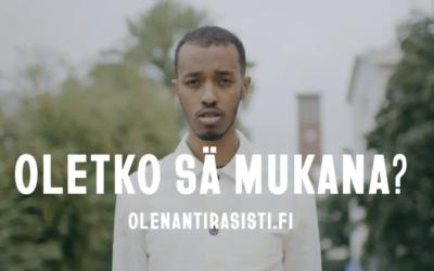 Suomen Setlementtiliitto on mukana Olen antirasisti -kampanjassa